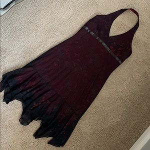 Black & Red Homecoming Dress